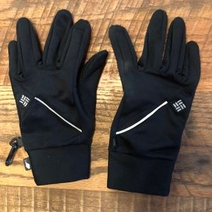 COLUMBIA black smart gloves size small